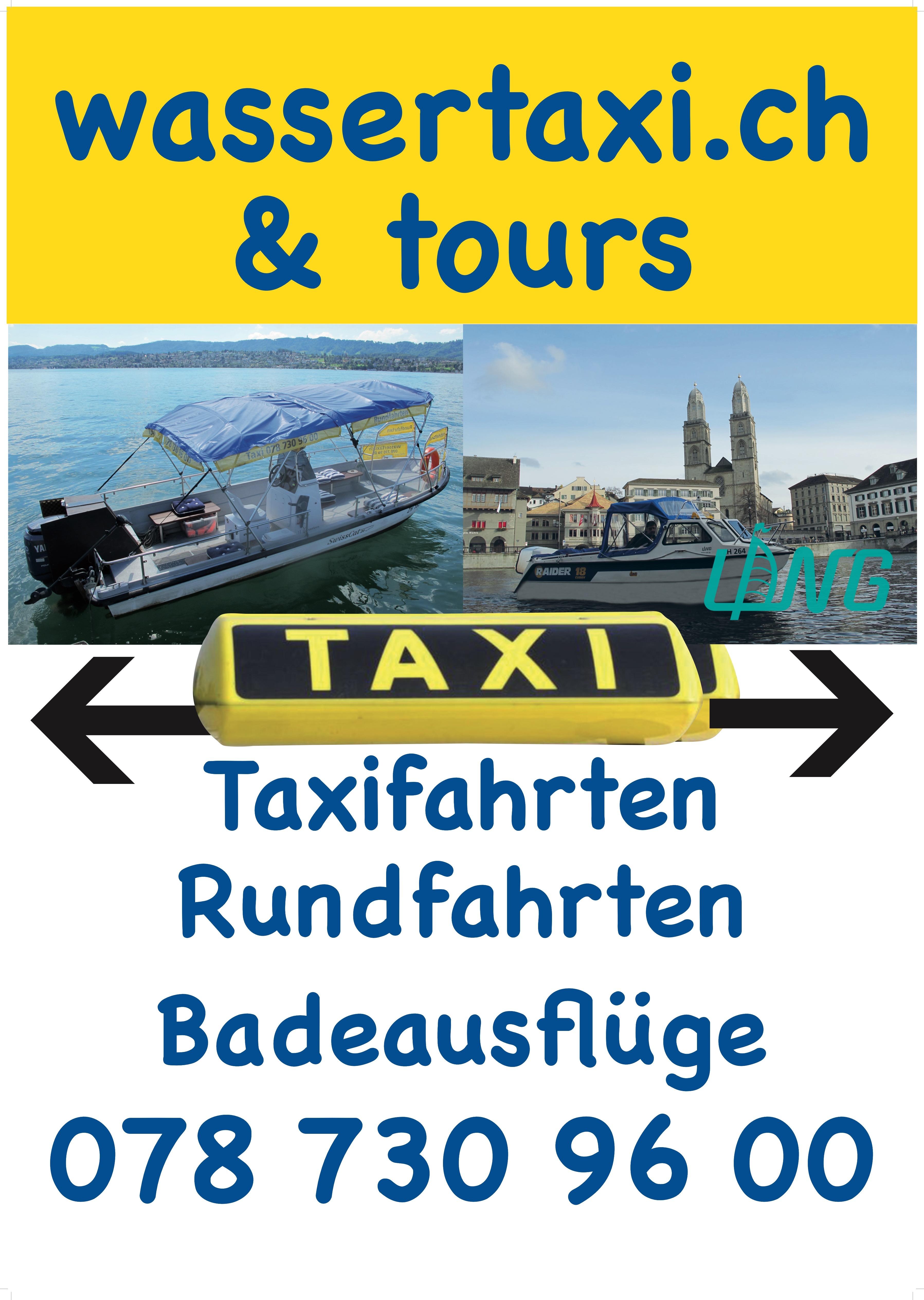 Wassertaxi Zürichsee buchen - Bootsfahrten Limmat günstig - Schiffahrt Ufenau und Lützelau